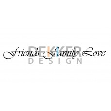Friends Family Love 5 X 55