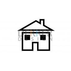 Huis Symbool 8 X 9 CM