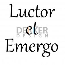 Luctor et Emergo 19 X 20 CM