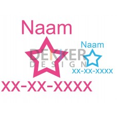 Naam ster datum 28 X 35 CM