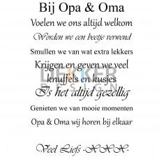 Opa & Oma 44 X 30 CM