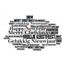 Tekstbord Kerst Woorden 40 X 60 CM