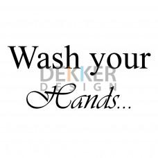 Wash your Hands 11 X 28 CM