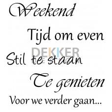 Weekend 25 X 30 CM